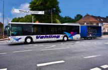 Fahrradanhänger am Überlandbus Vehling Reisen