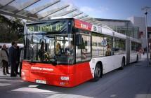 Vehling Reisen Gelenkbus steht vor Gröblinhoff in Werne