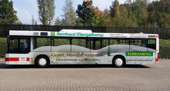 Bernd Mengelkamp Buswerbung