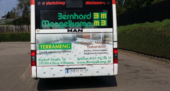 Bernd Mergelkamp Buswerbung