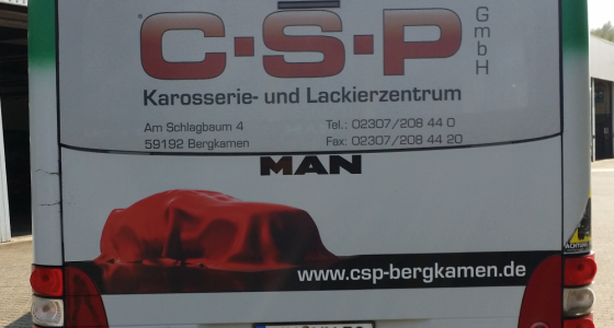 CSP Buswerbung